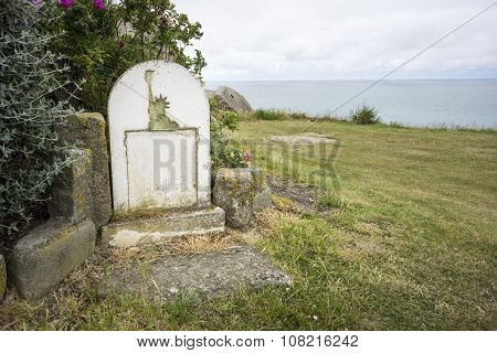 Defaced Memorial Stone