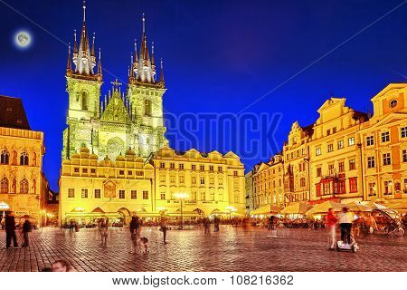 Prague,czech Republic- September 12, 2015: Church Of Our Lady(staromestske Namesti)on Historic Squar