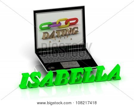 Isabella- Name And Family Bright Letters Near Notebook