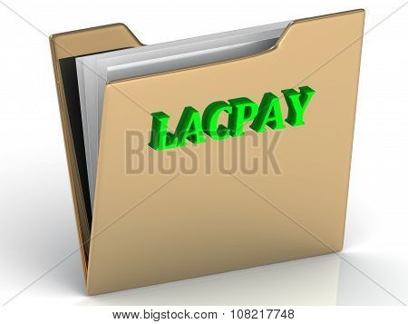 Lacpay - Bright Color Letters On A Gold Folder