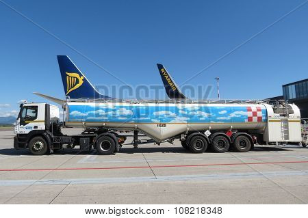 Ryanair Aircraft Boeing 737-800 And Tanker