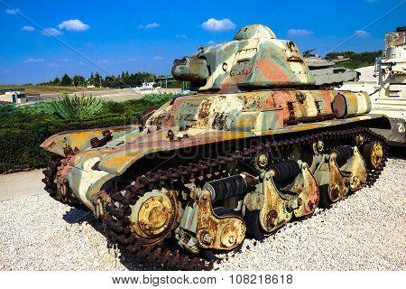 Renault R-35 Light Tank. Latrun, Israel