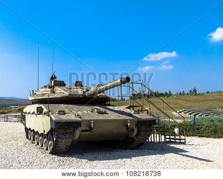 Israel Made Main Battle Tank Merkava  Mk Iv.   Latrun, Israel