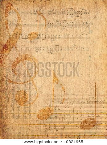Antique Parchment Musical Background