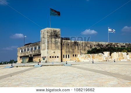 Latrun Fortress (former British-palestinian Police Station) Now Yad Lashiryon (armoured Corps) Museu