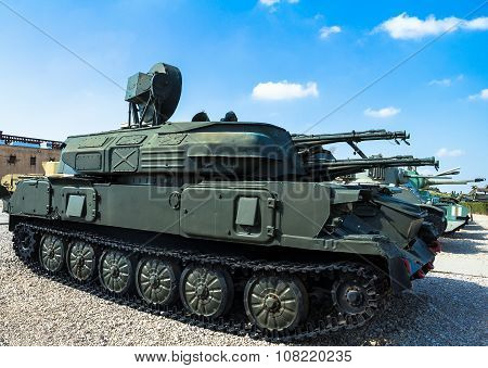 Russian Made Zsu-23-4 Shilka Self-propelled, Radar Guided Anti-aircraft Weapon . Latrun, Israel