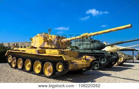 British Made Charioteer Lightweight Tank Captured By Idf In Southern Lebanon.  Latrun, Israel