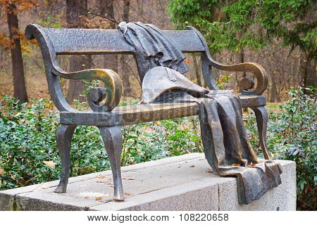 Whimsical Bronze Bench