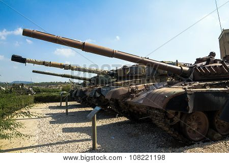 Russian Made Tanks  Latrun. Israel