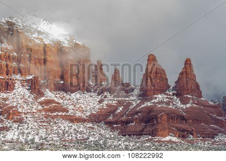 Winter Snow Sedona Arizona