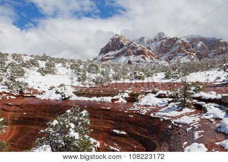Winter Snow Sedona Arizona
