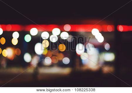Gas Station Lights Bokeh