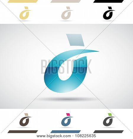 Design Concept of Colorful Stock Logos Icons and Shapes of Letter D, Vector Illustration