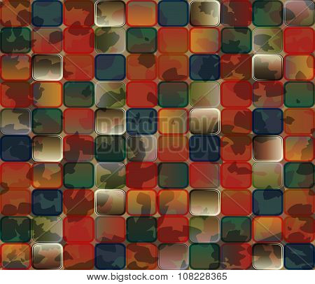 Abstract Background. Gradient Transparent Tiles With Grunge Effect