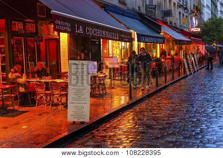 Colorful Restaurants Latin Quarter Paris France