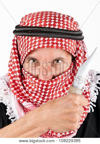 terrorist with knife
