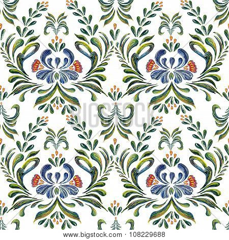 Seamless pattern with floral background. Seamless floral pattern.