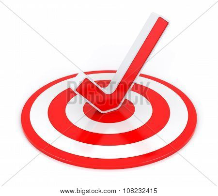 Check Mark With Target