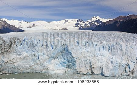 Looking Up A Glacier To Its Source