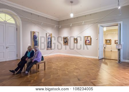 Hall  With Impressionist Paintings Pierre-auguste Renoir At The Museum Of The General Staff (branch
