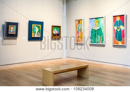 Hall With Impressionist Paintings Henri Matisse At The Museum Of The General Staff (branch Of Hermit