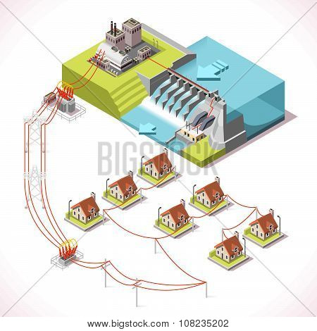 Energy 14 Infographic Isometric