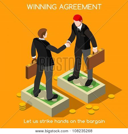 Handshake 02 People Isometric