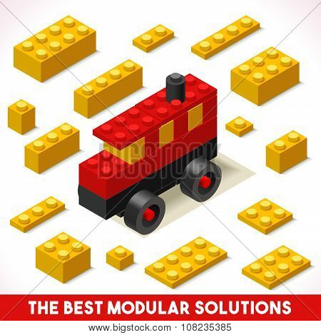 Toy Block Bus Games Isometric