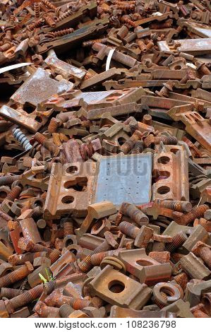 railway bolts and washers scrap