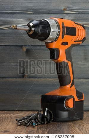 Battery Powered Drill And Drill Bits