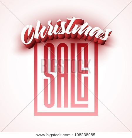 Vector Christmas sale square poster design.