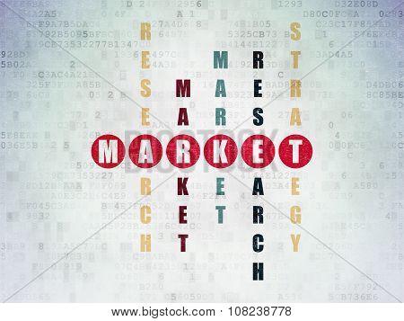 Marketing concept: Market in Crossword Puzzle