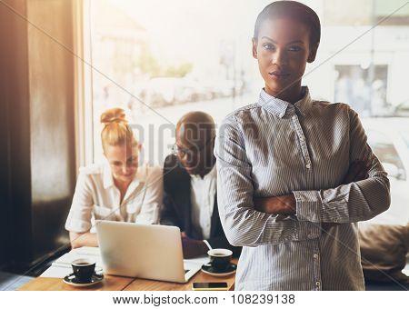 Confident Black Business Woman