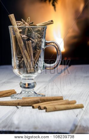 Cup Of Hot Mulled Wine