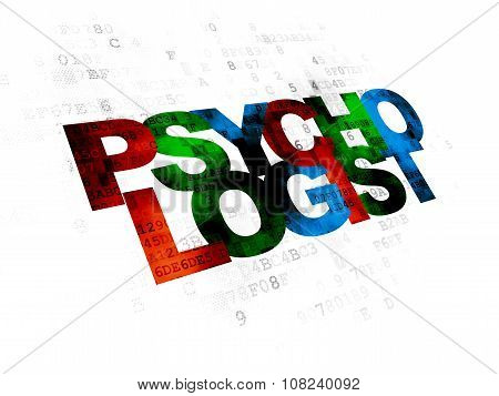 Healthcare concept: Psychologist on Digital background