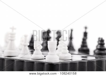 Close Up Of A Chess Table.