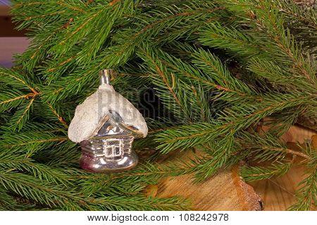 Christmas toy on the Christmas tree-Lodge