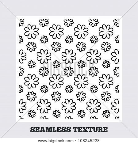 Flower stripped seamless pattern.