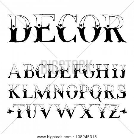 Vintage hand drawn decorative type for your typography designs