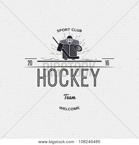 Hockey team insignia  and labels for any use
