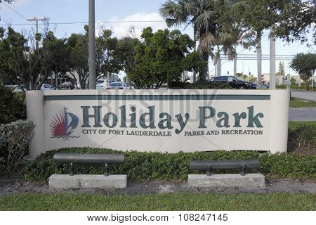 Holiday Park Entrance Sign
