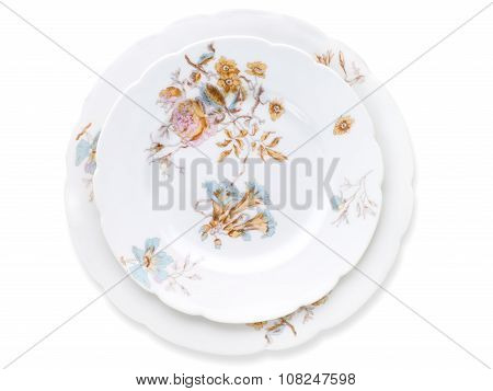 Antique Decorated Porcelain Plates