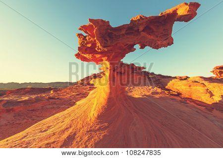 Sandstone formations in Nevada