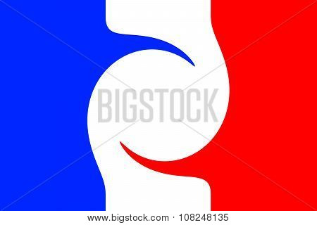 french flag twisted