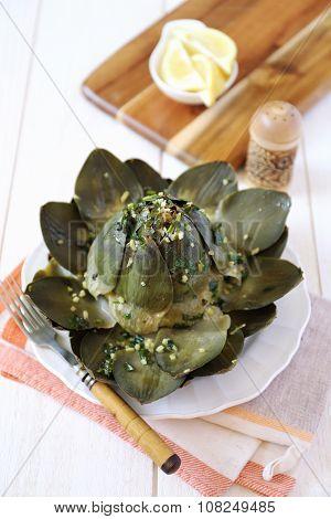 Artichoke With Lemon And Herbs