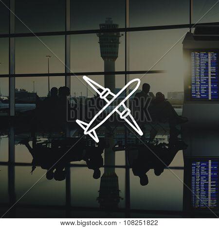 Airplane Transportation Plane Trip Navigation Concept