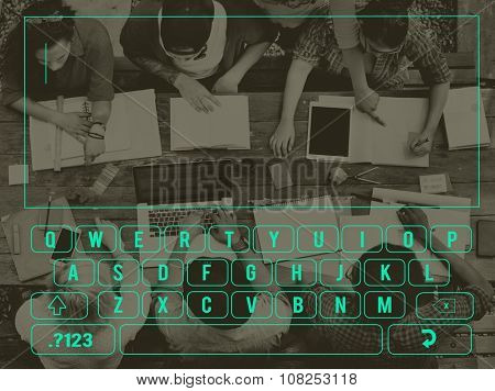 Technology Keyboard touch screen browser Concept