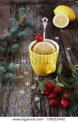 Vitamin Tea Rose Hip And Lemon