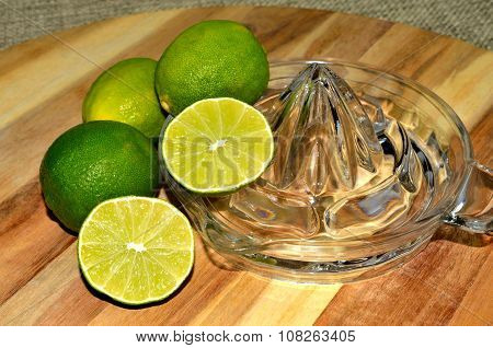 Lime with glass juicer