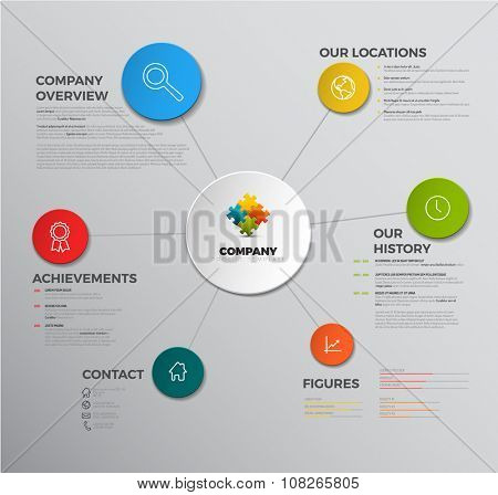 Vector Company infographic overview design template with icons